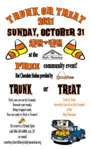 2nd Annual Trunk or Treat @ Daly Mansion